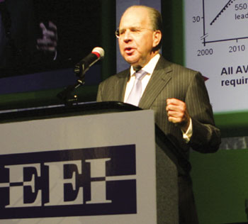Dr. Uriel Sharef, Member of the Corporate Executive Commitee, Siemens Aktiengesellschaft, addresses the plenary session at the EEI convention in Denver, June 2007.